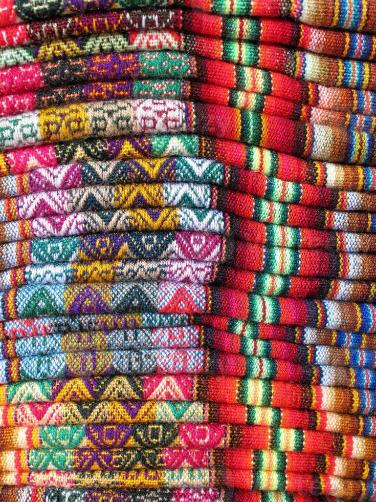 südamerikanische indische gewebte Stoffe foto