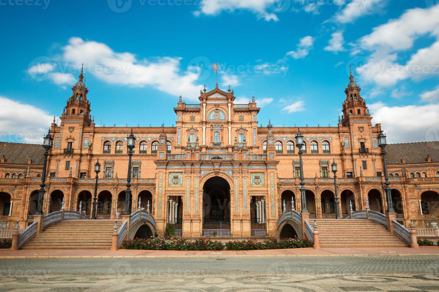 Plaza de Espana in Sevilla, Andalusien foto
