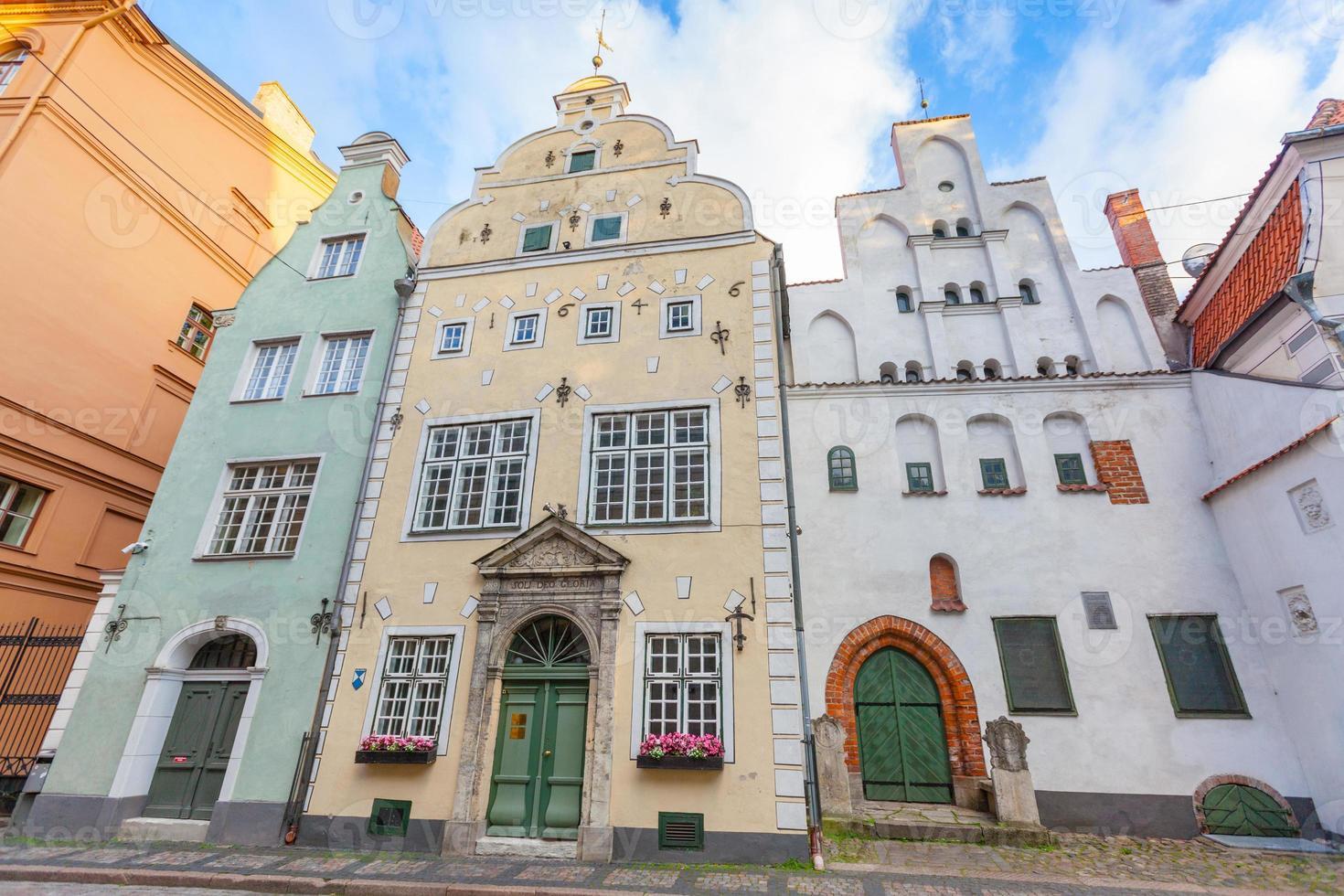 Drei Brüder Häuser in Riga foto