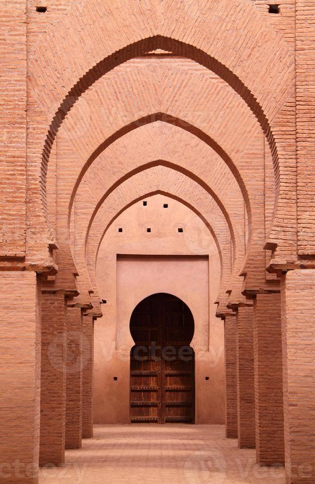 Zinn-Mel-Moschee aus dem 12. Jahrhundert, hohes Atlasgebirge, Marrakesch, Marokko foto