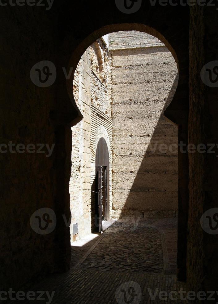 Arabischer Bogen im Alcazar de Jerez foto