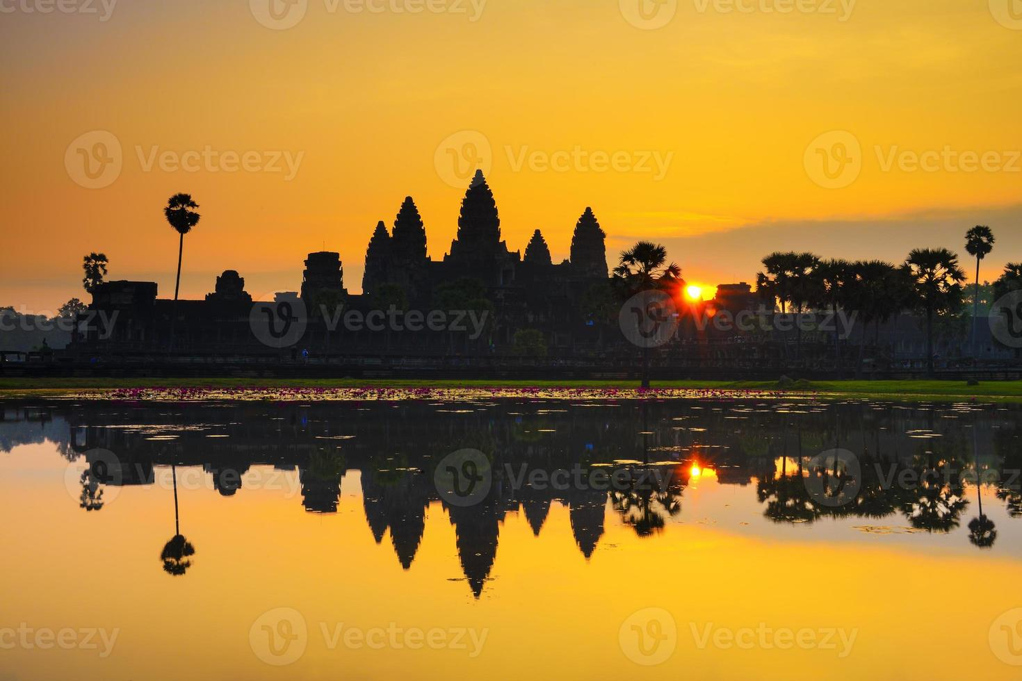 Ankor Wat, Foto bei Sonnenaufgang aufgenommen