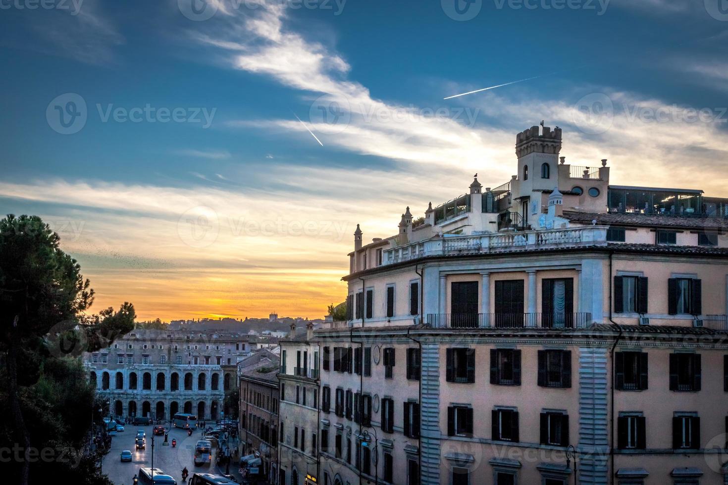 Blick auf die Straße in der Nähe der Piazza Campidoglio foto