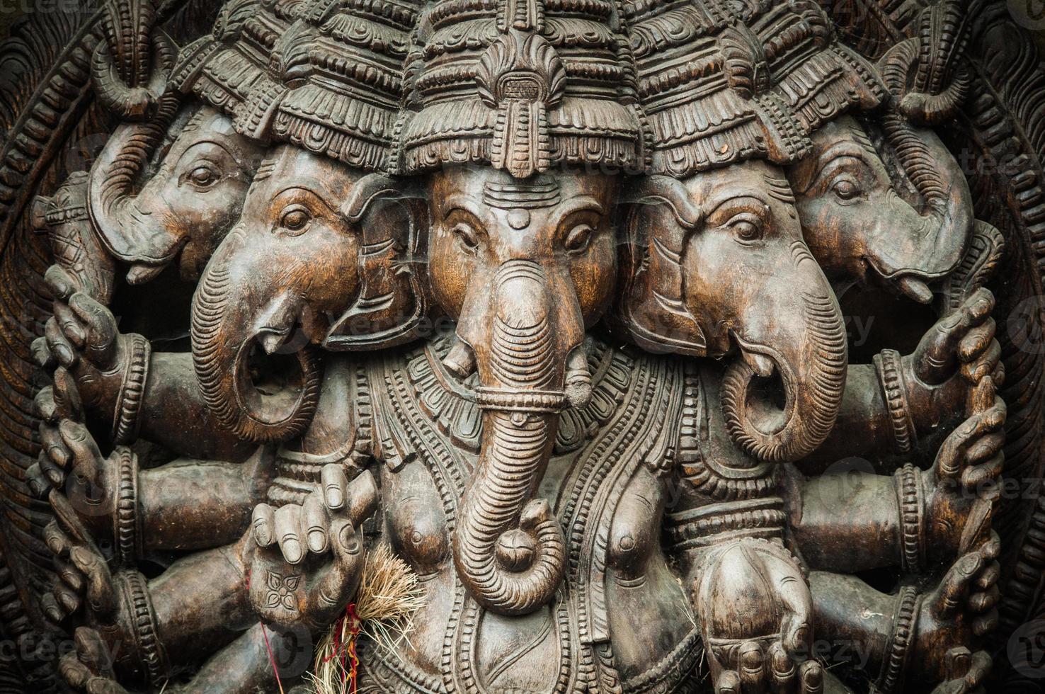 indische Ganesha-Statue foto