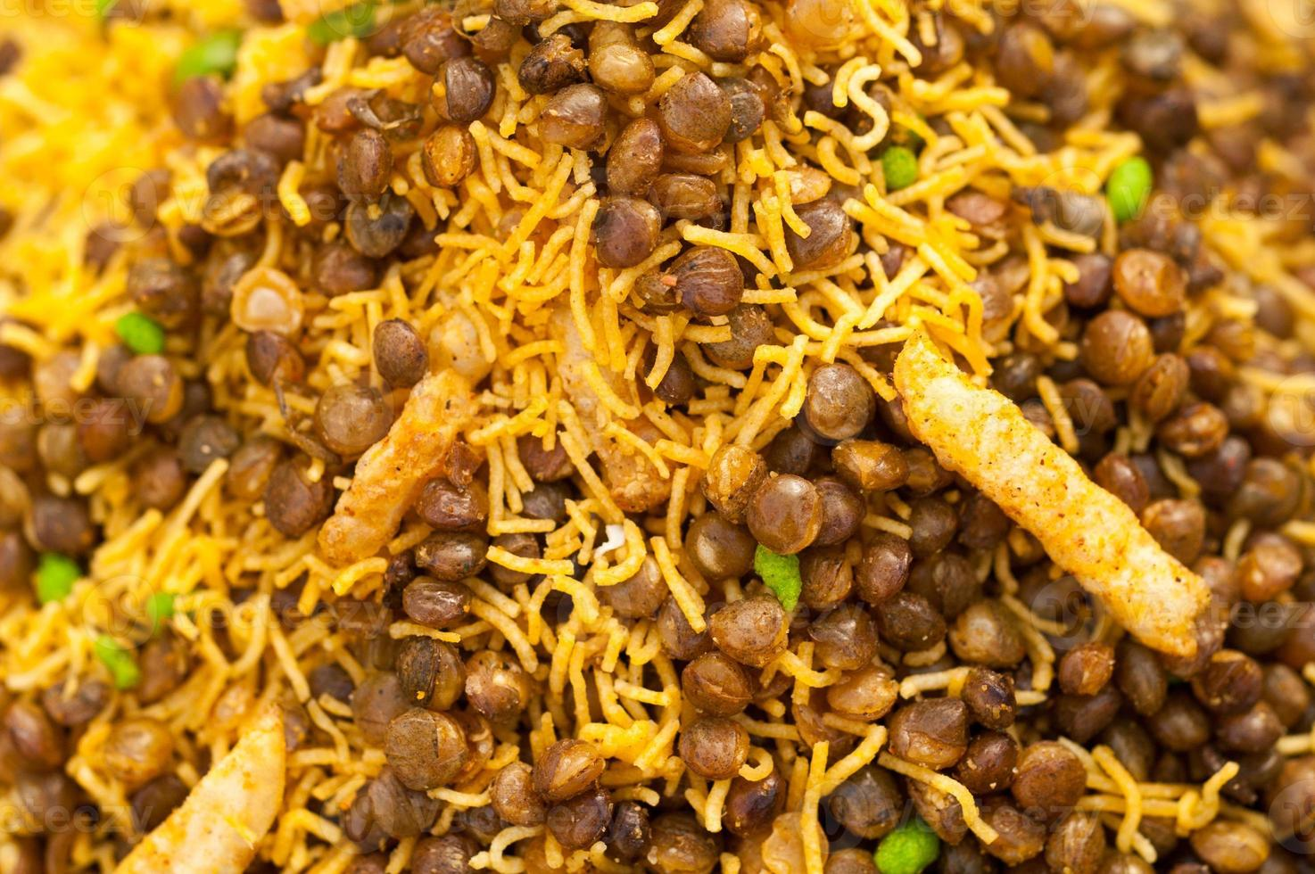 verschiedene getrocknete indische Getreide foto