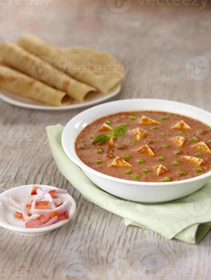 Paneer Murmeln, Soße, indisches Essen, Indien foto