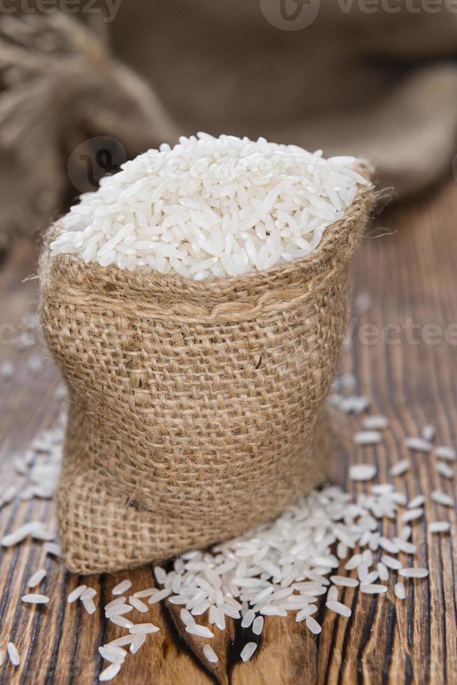 kleiner Sack mit Reis foto