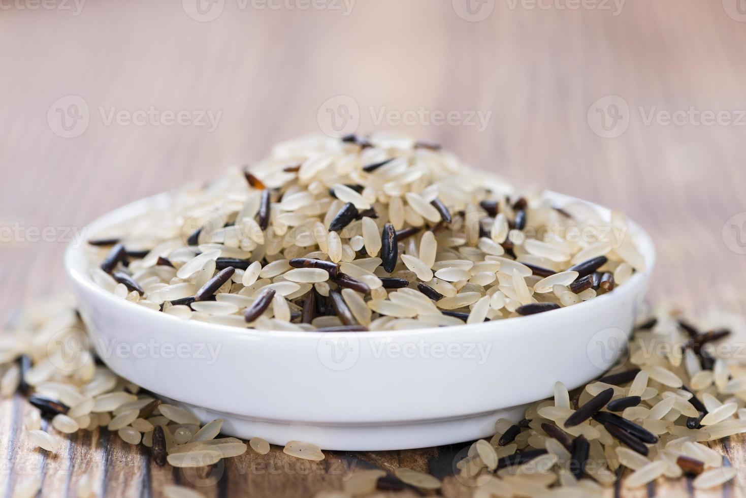 Reis (gemischt mit Wildreis) foto