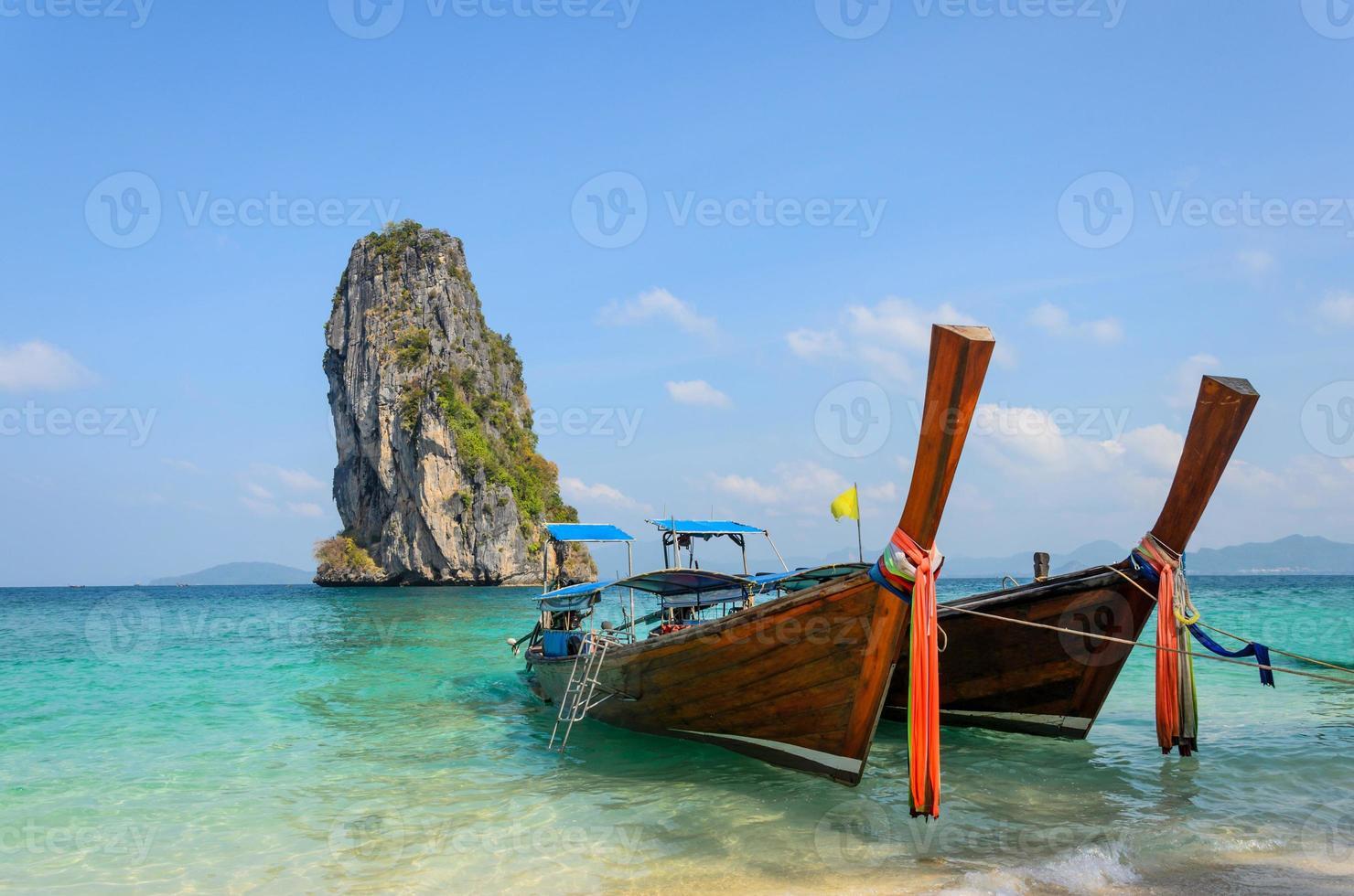 Long-Tail-Taxiboot foto