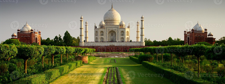 Taj Mahal von der Gartenseite foto