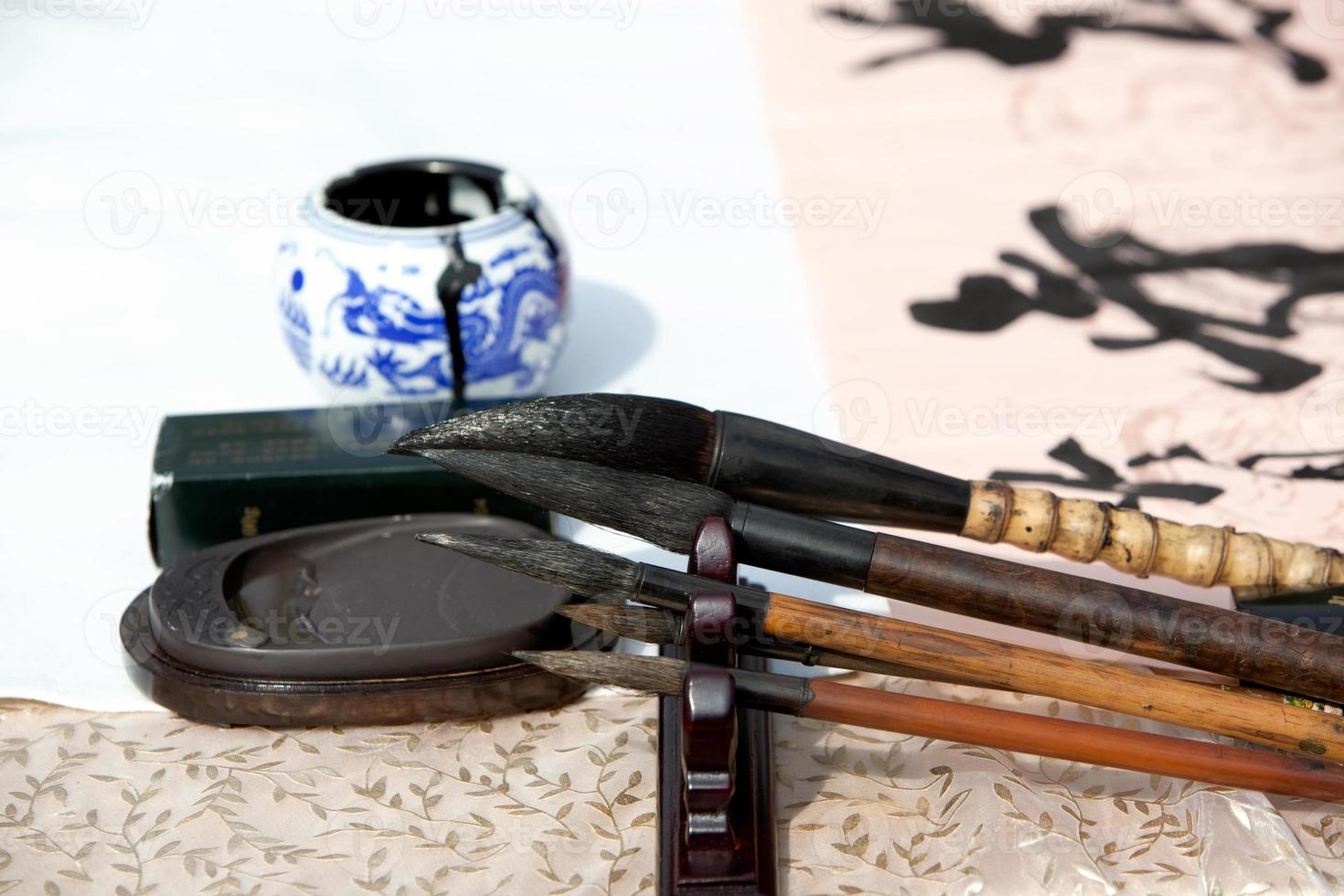 Chinesisch vier Schätze der Studie foto
