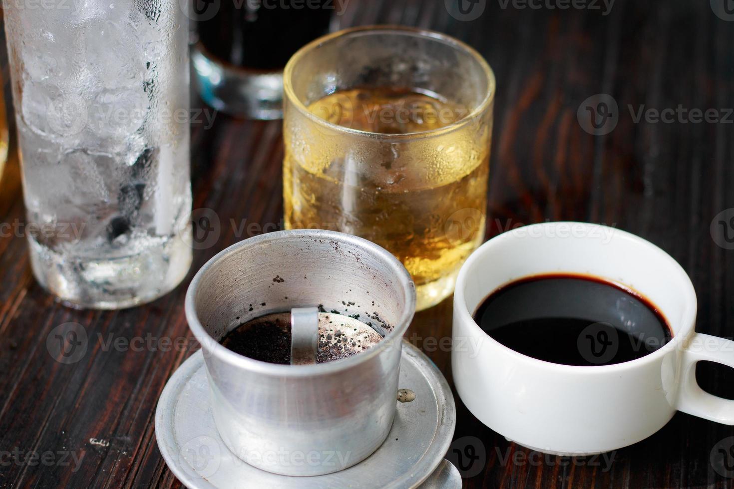 vietnamesischer Eiskaffee foto