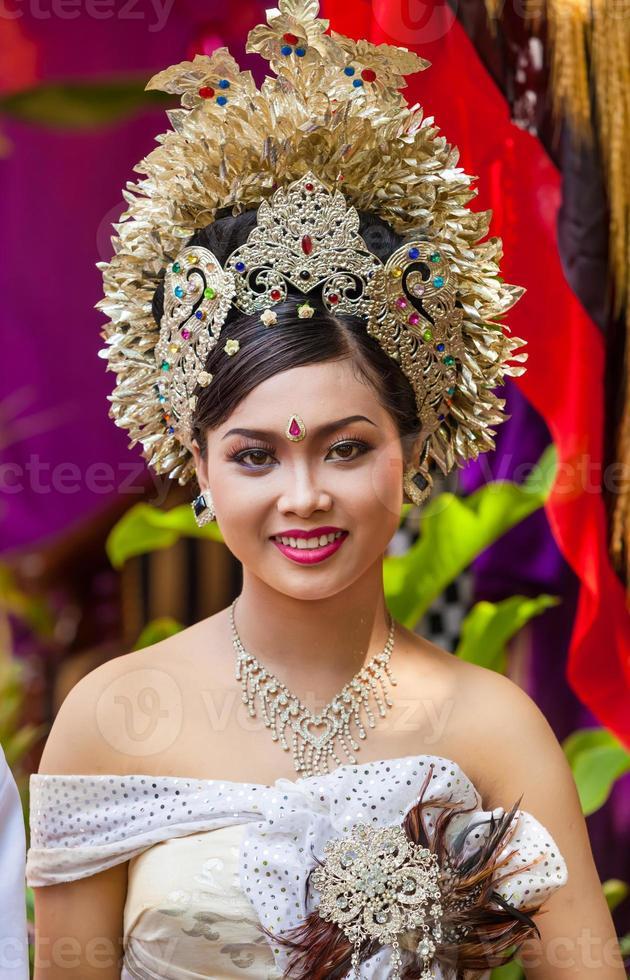 balinesische Hochzeit foto