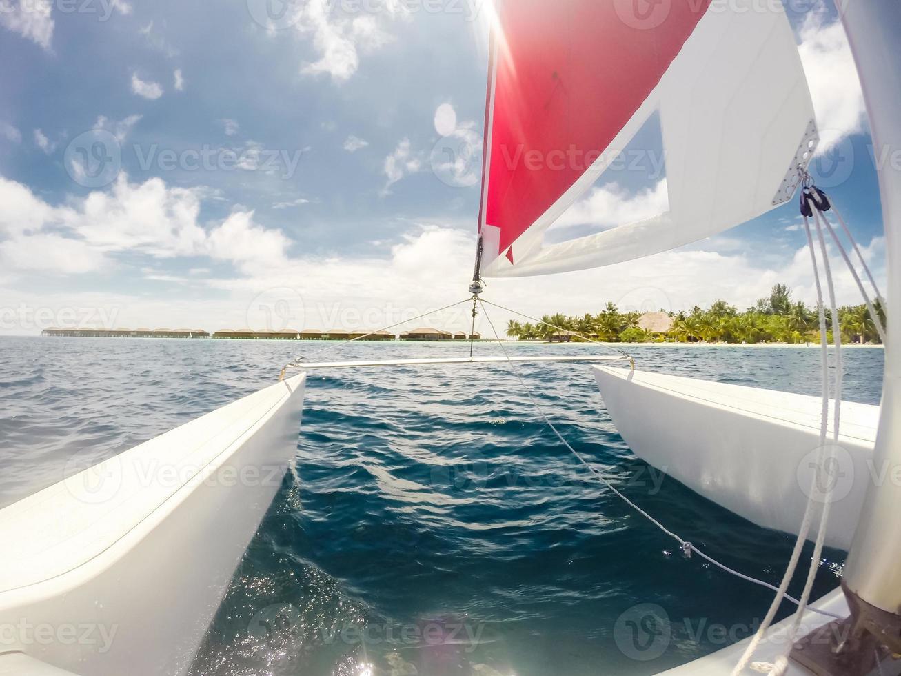 Segeln auf den Malediven foto