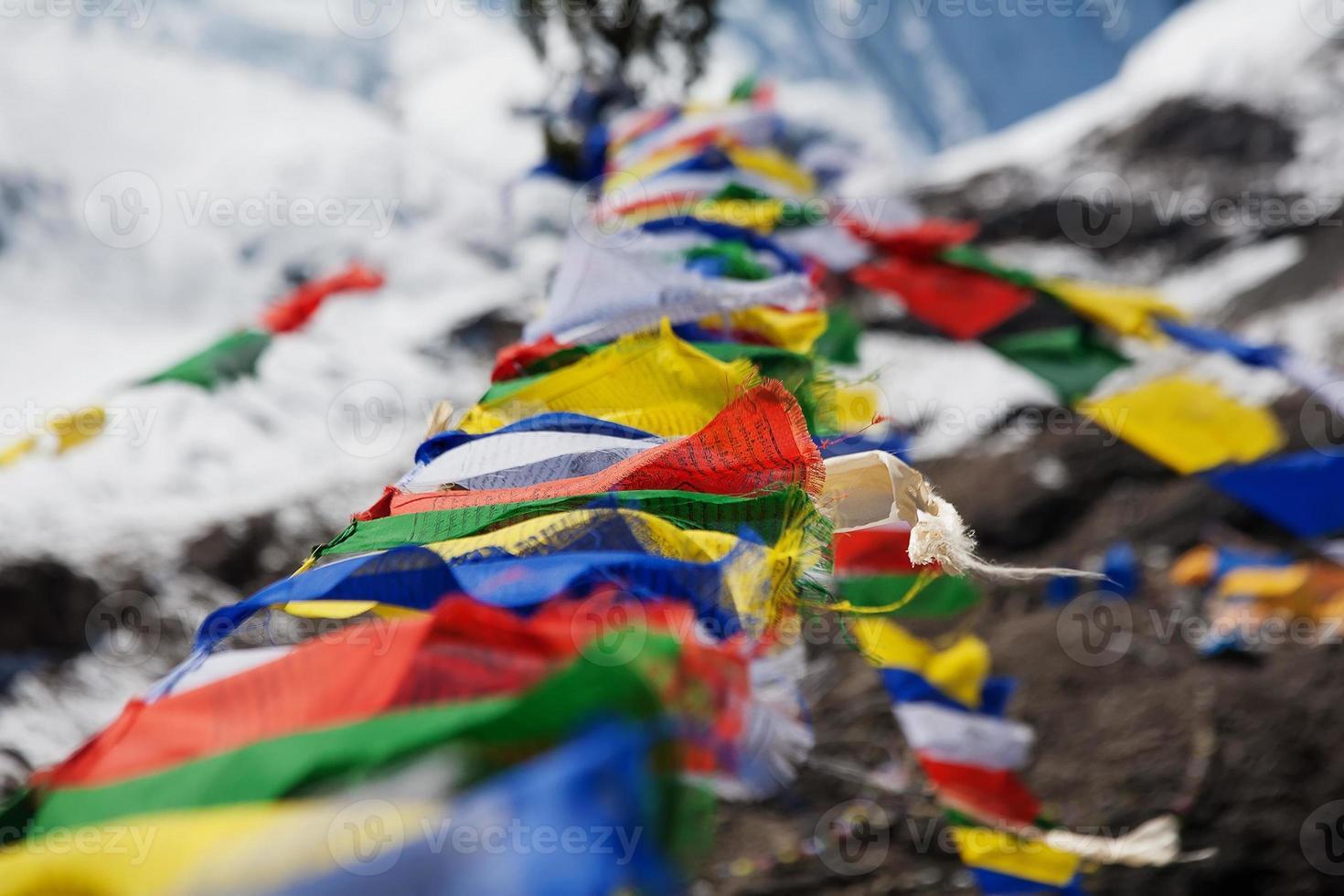 buddhistische Gebetsfahnen foto