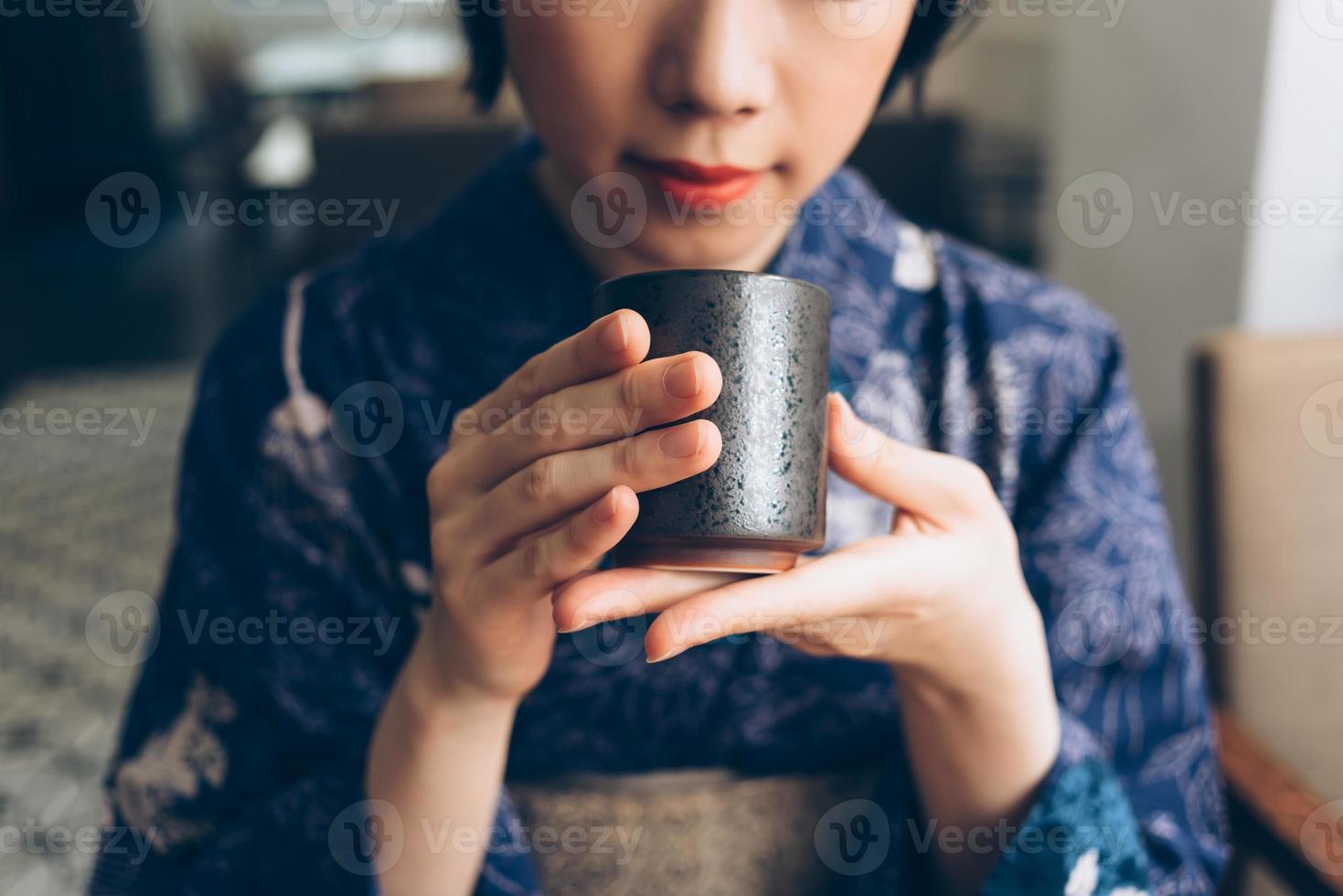traditioneller japanischer Tee foto