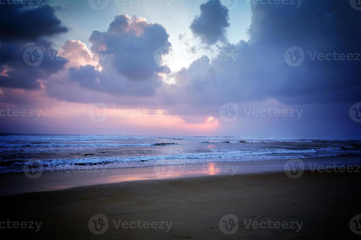 Wolken Sonnenuntergang Himmel Hintergrund foto