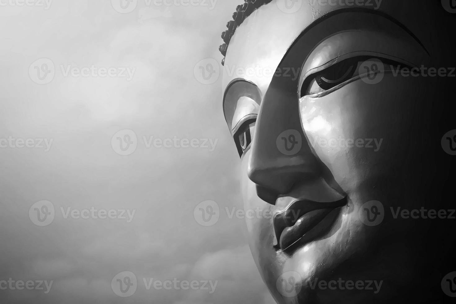 Porträt der Buddha-Statue foto