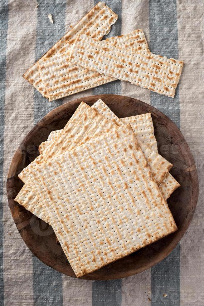 Matze - ungesäuertes Brot für Pessach foto