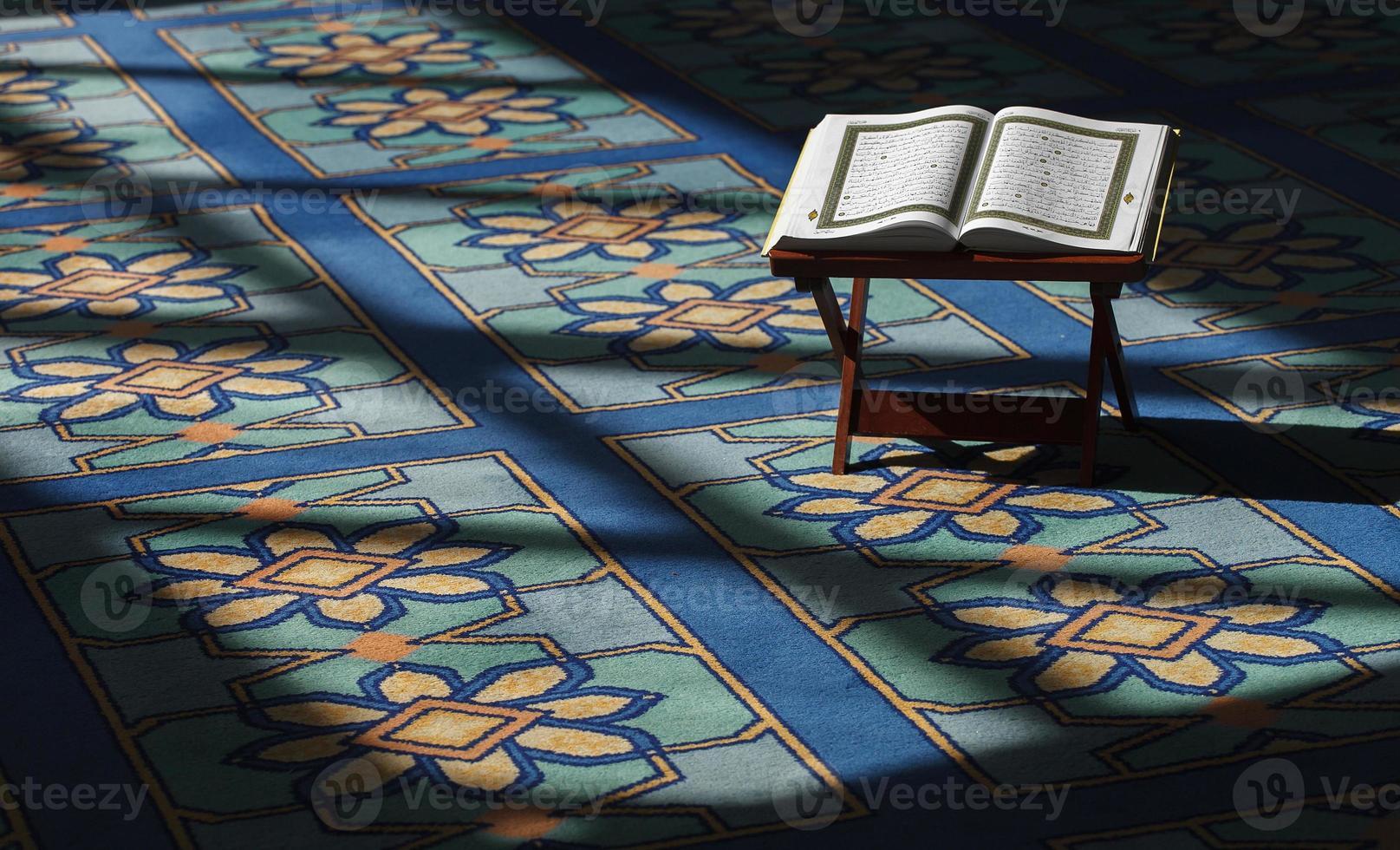Koran in der Moschee foto