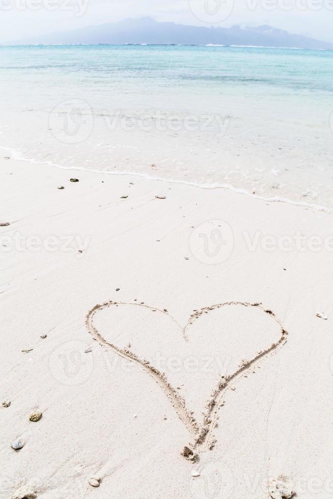 Nachricht am Strand foto