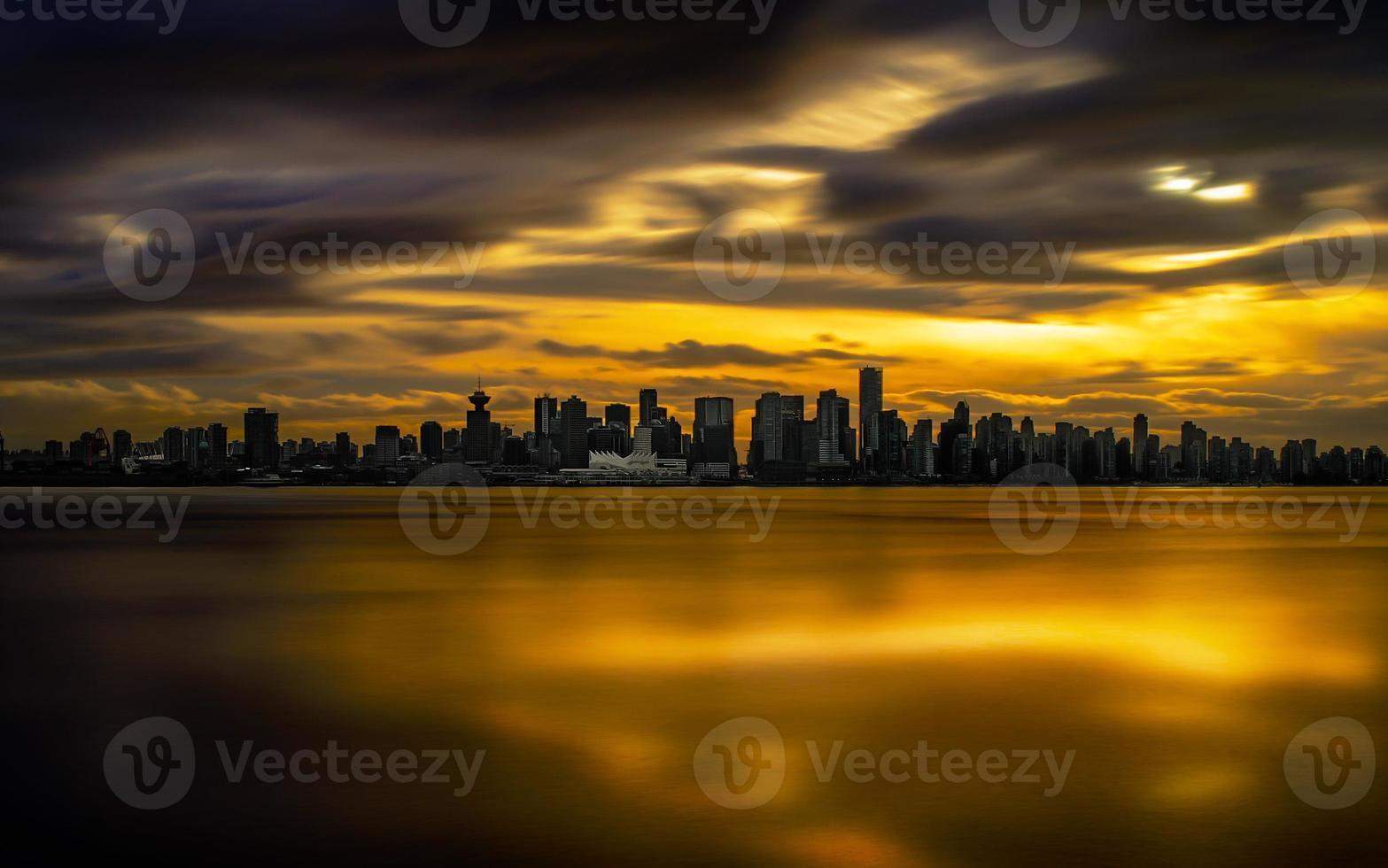 Himmel in Flammen foto