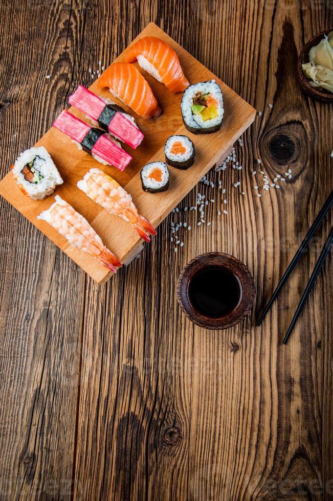 orientalisches japanisches Sushi foto
