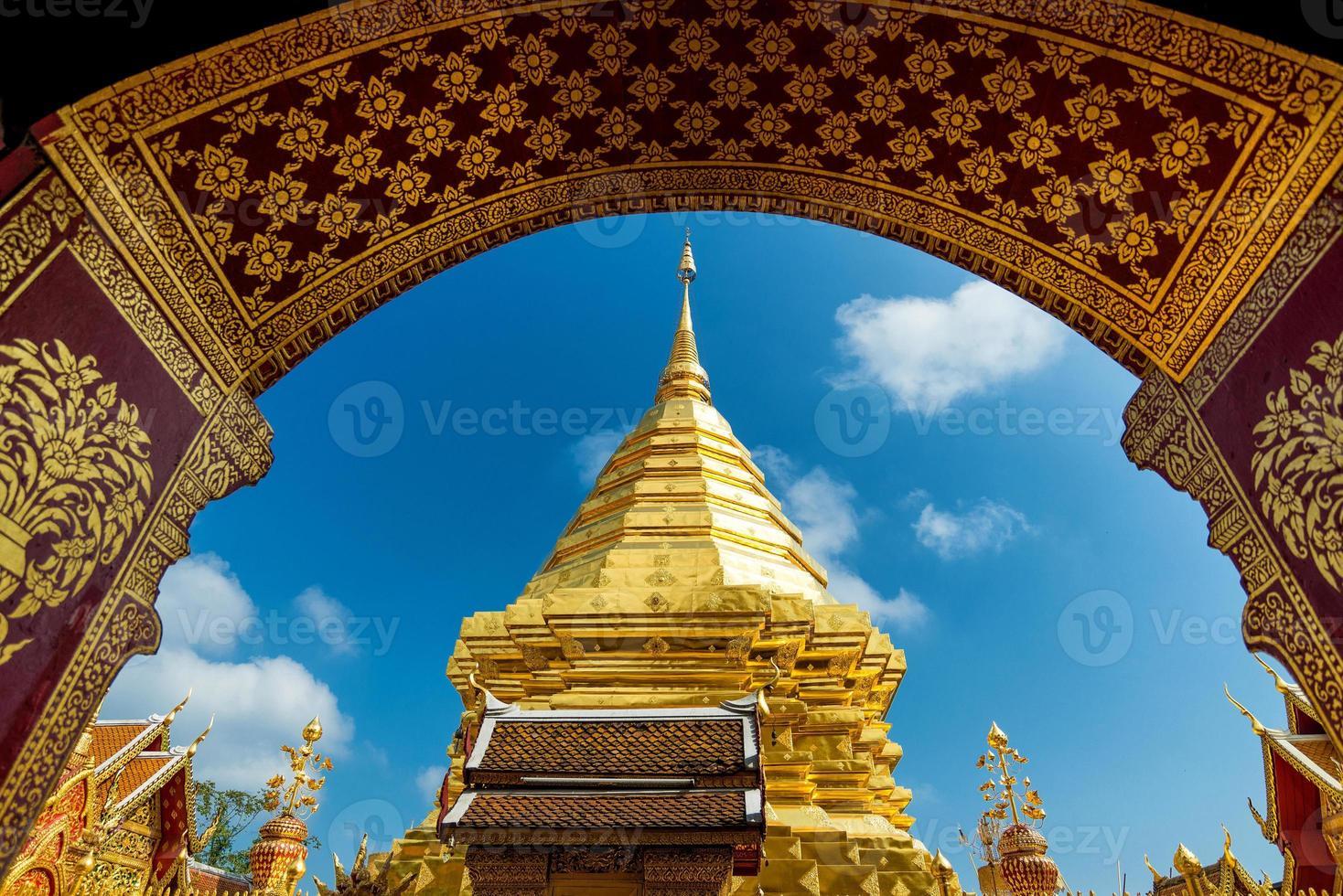 Wat Phra, der Doi Suthep Tempel in Chiang Mai, Thailand foto