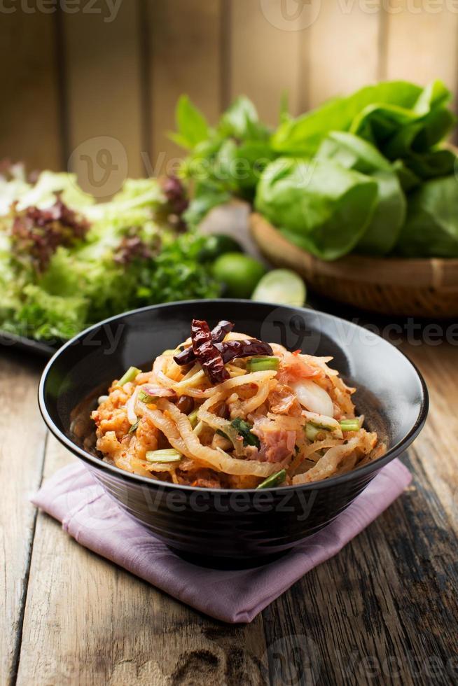 Yam Naem (thailändisches Essen) foto