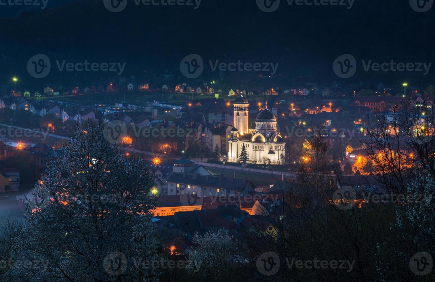 Sighisoara - Nachtansicht foto