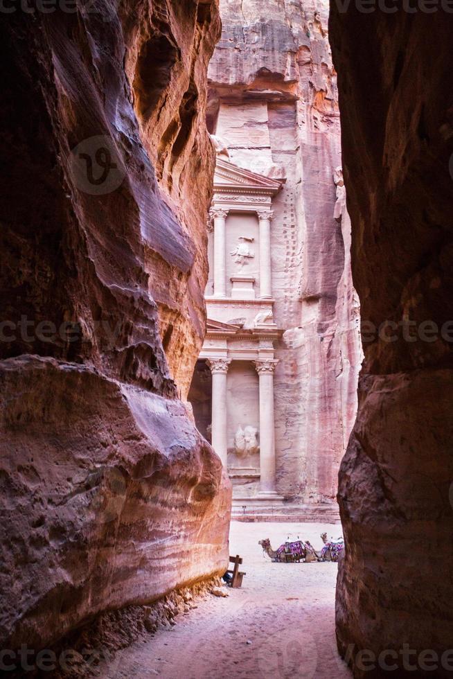 die Schatzkammer. alte stadt von petra, jordan foto