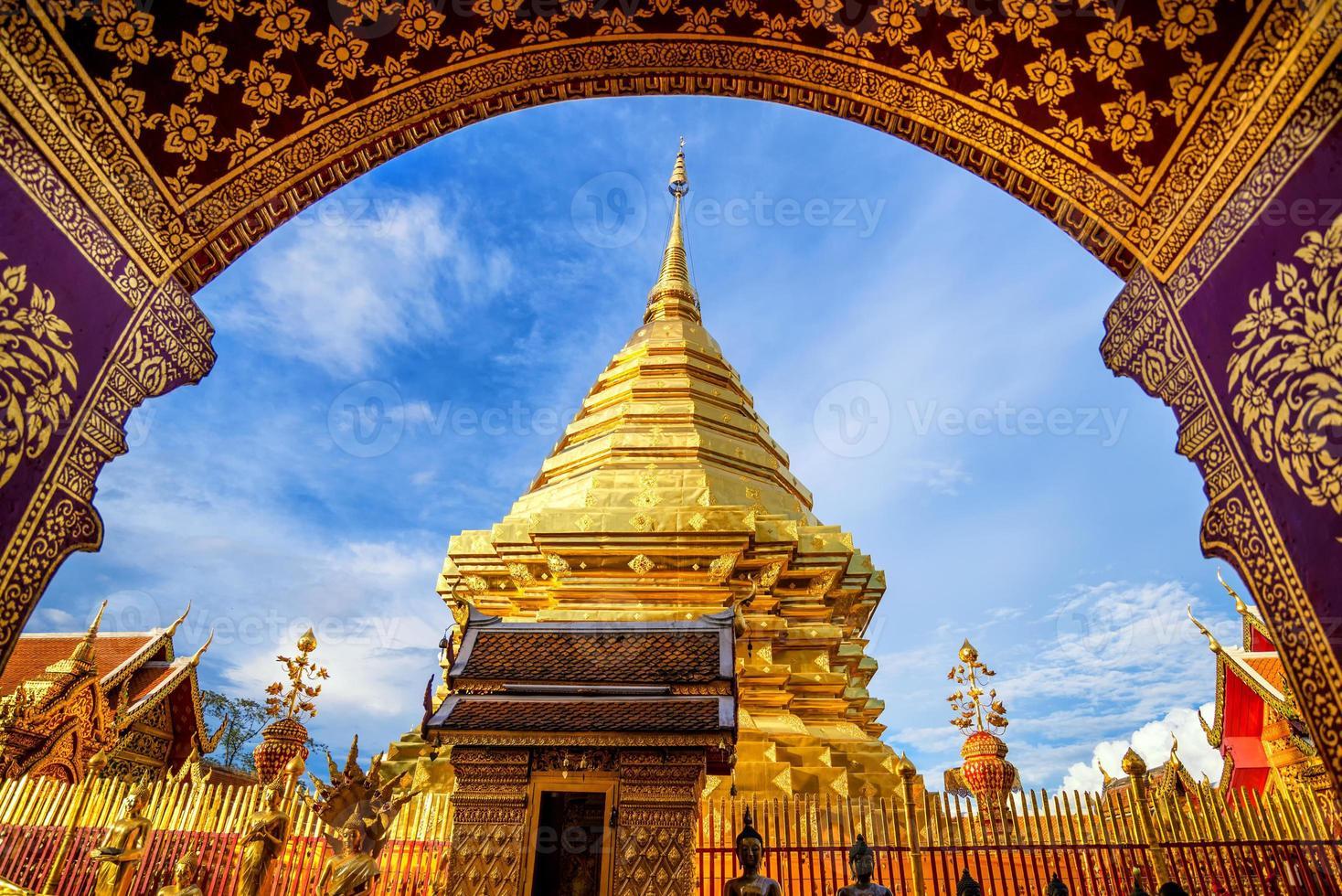 Wat Phra That Doi Suthep, beliebter schöner Tempel foto