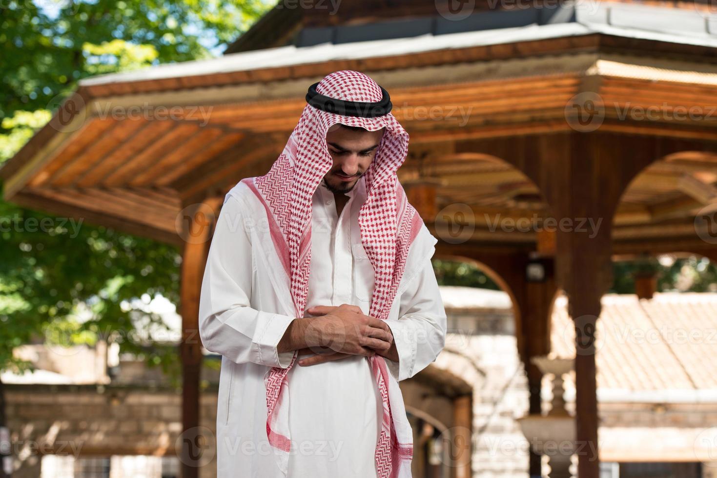 demütiges muslimisches Gebet foto
