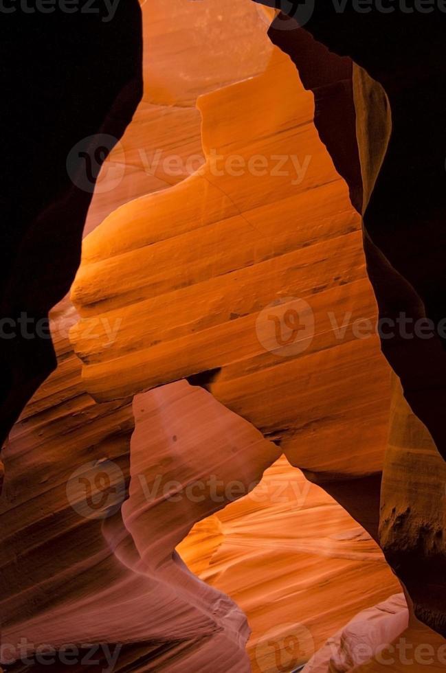 Slot Canyon Weg in Arizona, USA foto