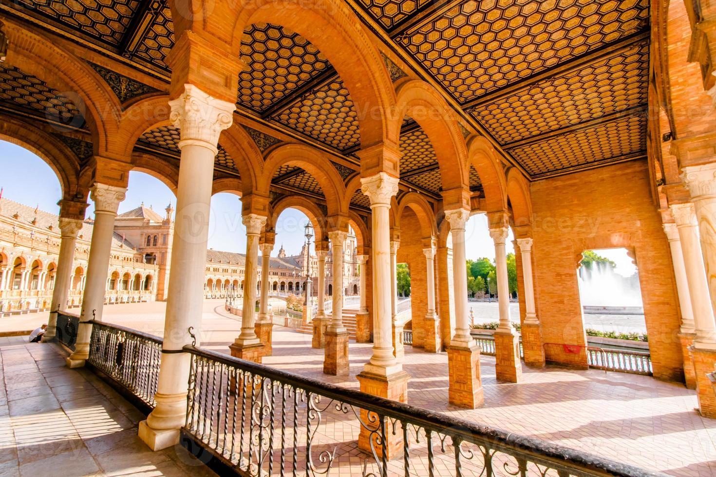 berühmter Plaza de Espana, Sevilla, Spanien foto