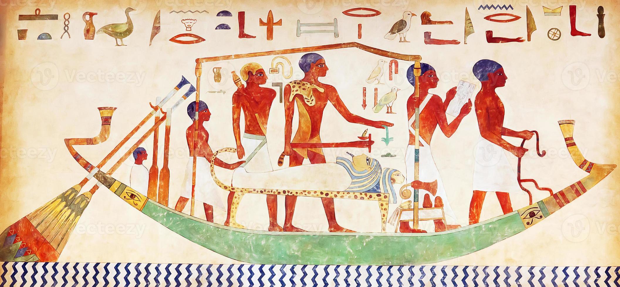 Hieroglyphen an der Wand foto