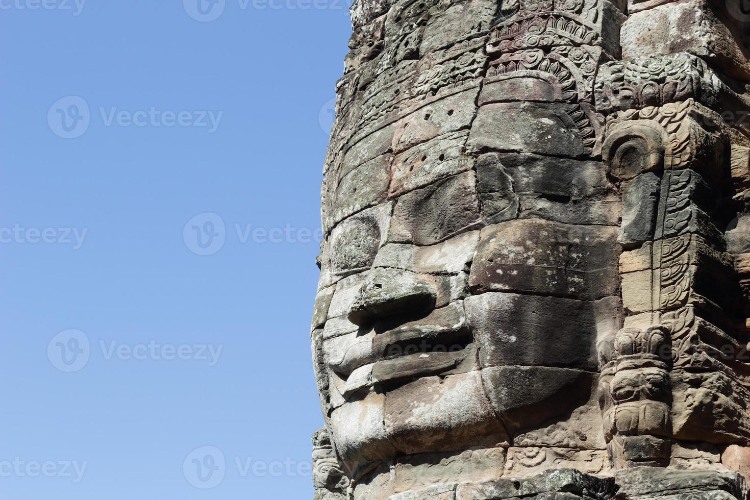 das Gesicht von König Jayavarman VII im Bajon-Tempel foto