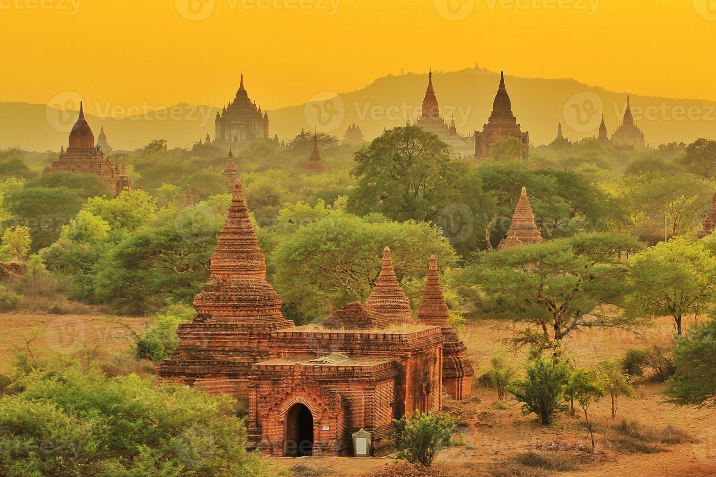 Tempel von Bagan, Myanmar foto