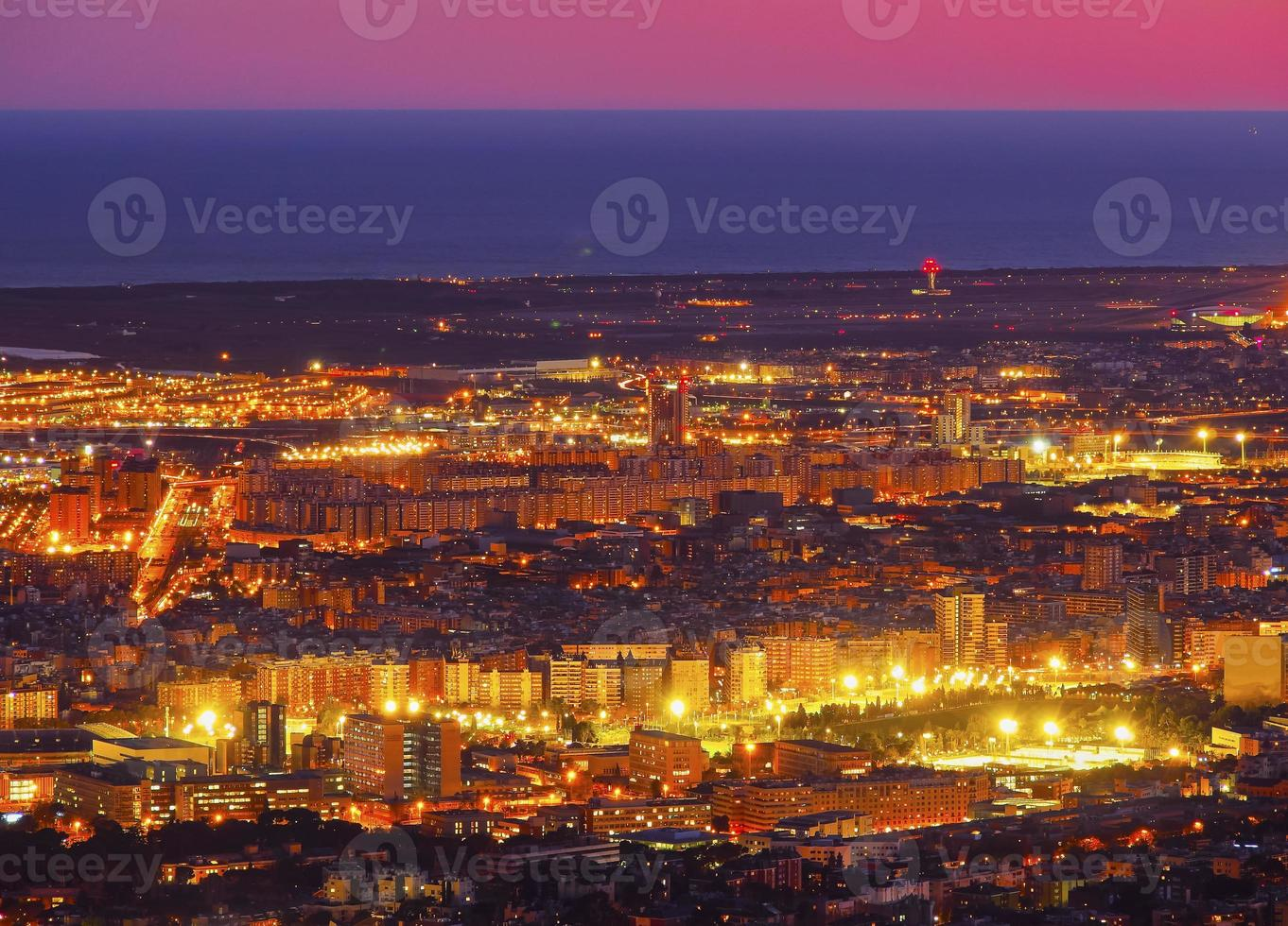 blaue Stunde in Barcelona foto