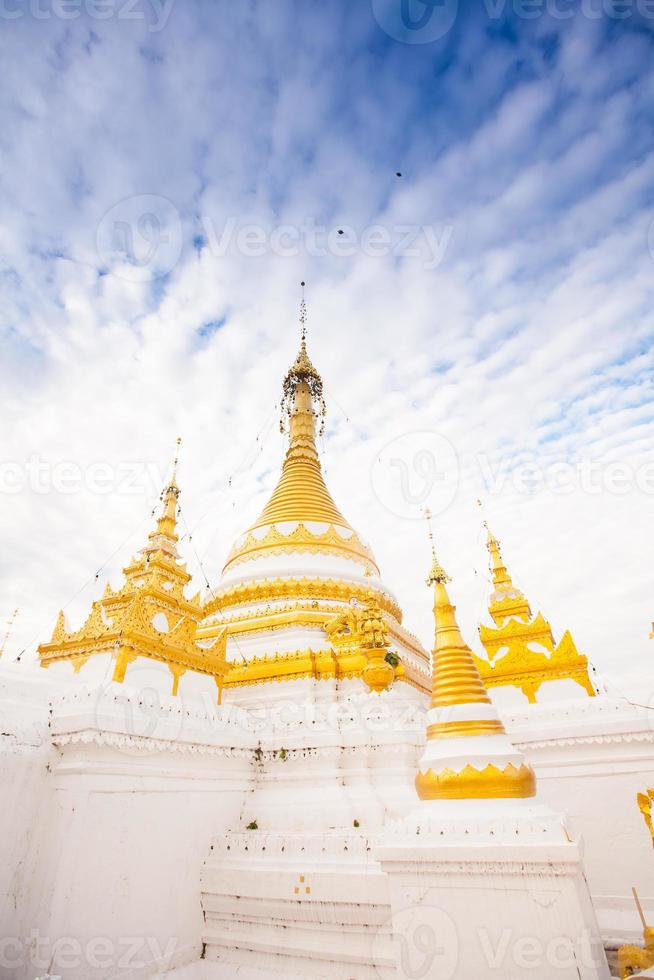 Tempel in Mae Hon Song, Thailand foto