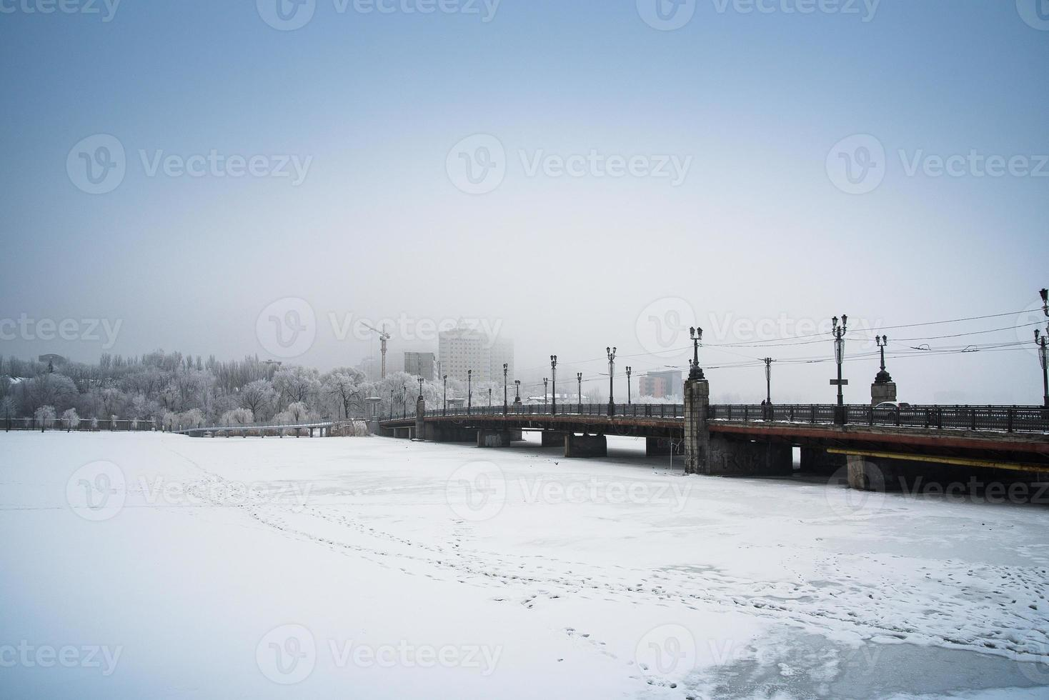 Schnee Donezk, Ukraine. foto