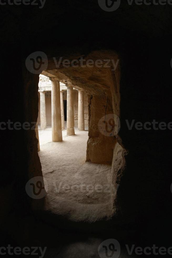 Gräber der Könige, Paphos, Zypern foto
