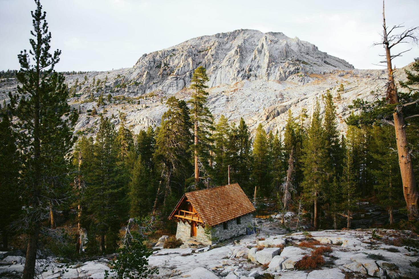 Hütte in den Alpen foto