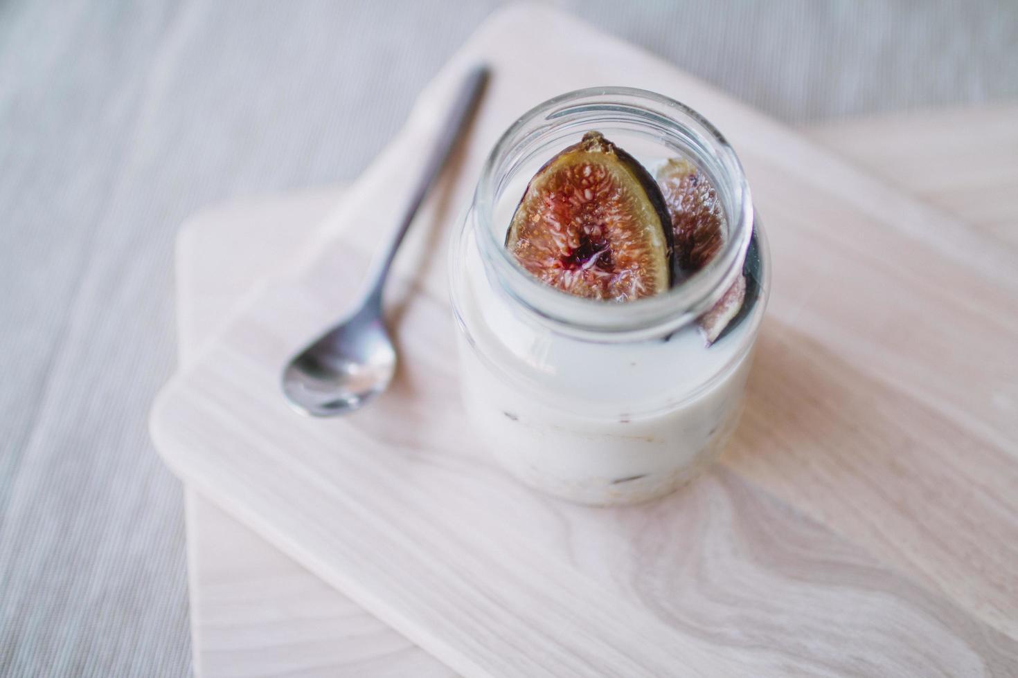 Feigenmousse-Dessert foto
