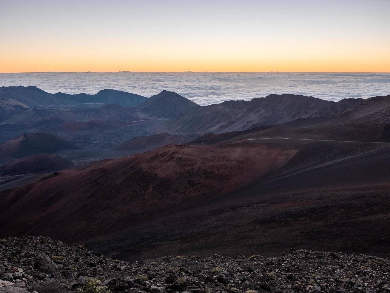 Rocky Canyon während des Sonnenuntergangs foto