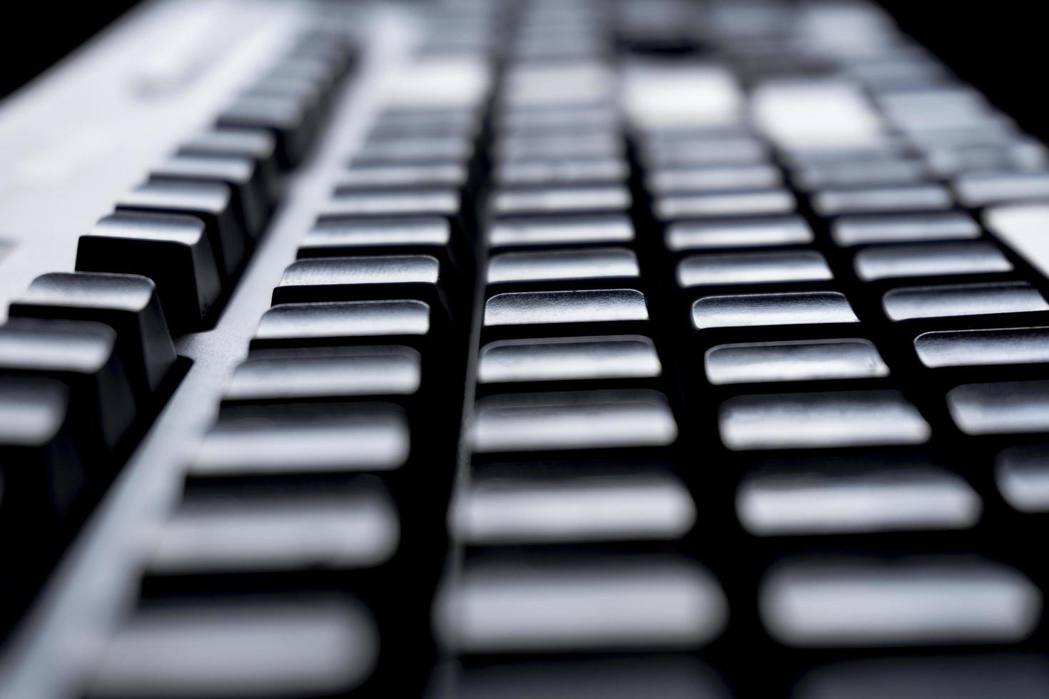 Nahaufnahme der Tasten auf der Tastatur foto