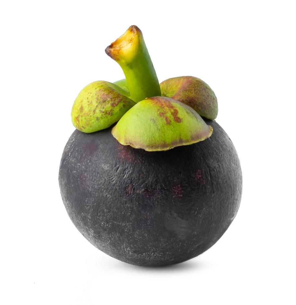 Nahaufnahme einer Mangostanfrucht foto