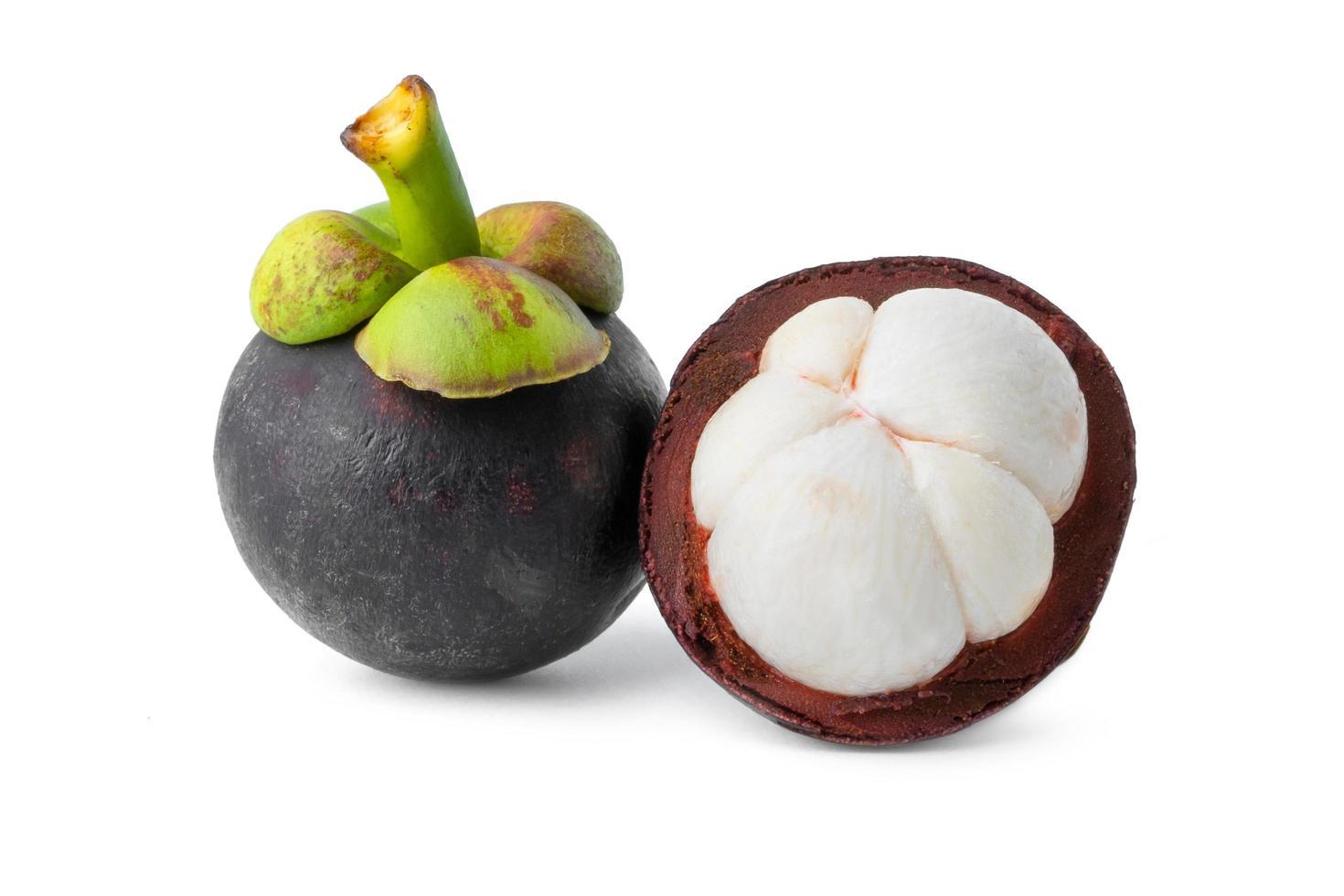 Nahaufnahme von Mangostanfrüchten foto