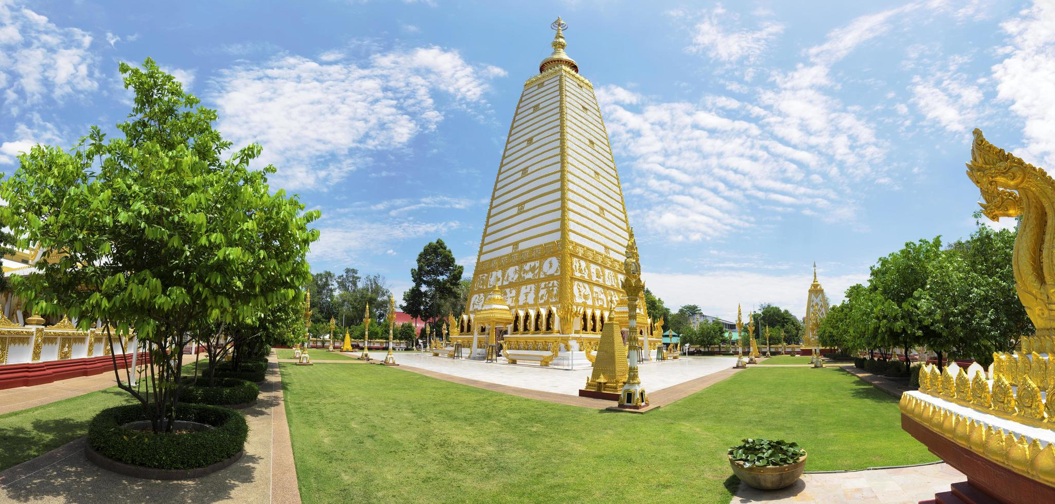 Panorama Wat Phrathat Nong Bua in Thailand foto