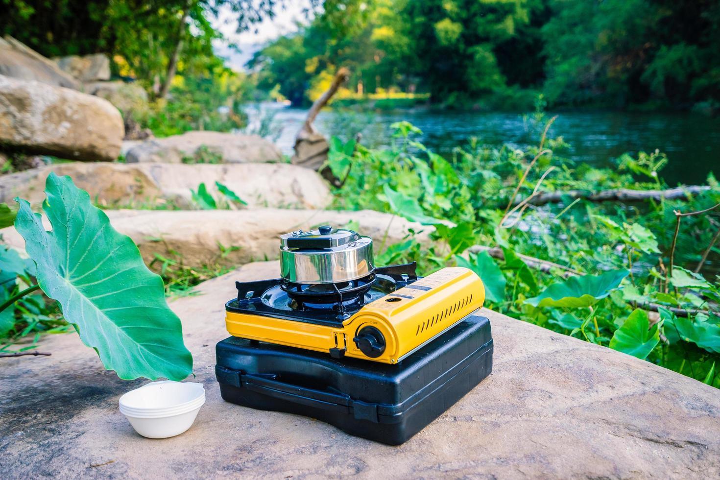 Gasherd und Teekanne foto